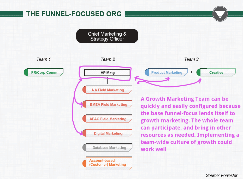"Growth Marketing Team, Example #3 - ""The Funnel-Focused Org"""