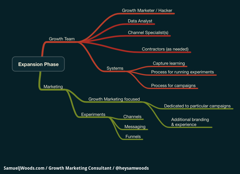 Expansion Phase Growth Marketing and Team