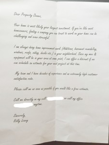 "Great example of a ""Personal Letter"""